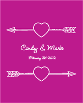 Cupids Arrow Wine Label