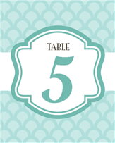 Elegant Table Number