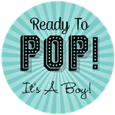 ready to pop stickers template - baby shower labels stickeryou products