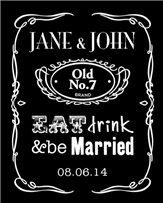 Wedding Whiskey Label