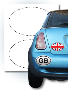 Custom Oval Stickers Oval Labels Templates StickerYou Products - Custom oval car bumper magnets