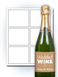 Landscape Wedding Wine Labels  Free Wine Bottle Label Templates