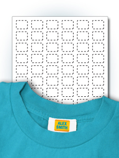 stick on clothing tag labels templates stickeryou products