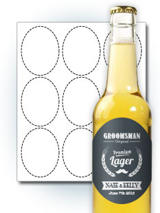 bottle label template