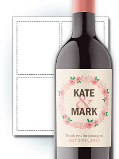 Wine Bottle Labels Award Winning Quality Templates StickerYou